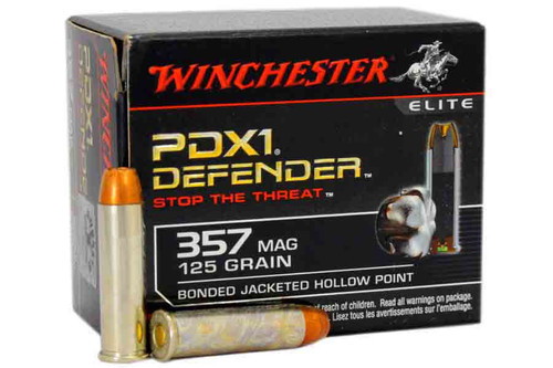 Winchester S357MPDB PDX1 .357 MAG 125 Grain BJHP Ammo