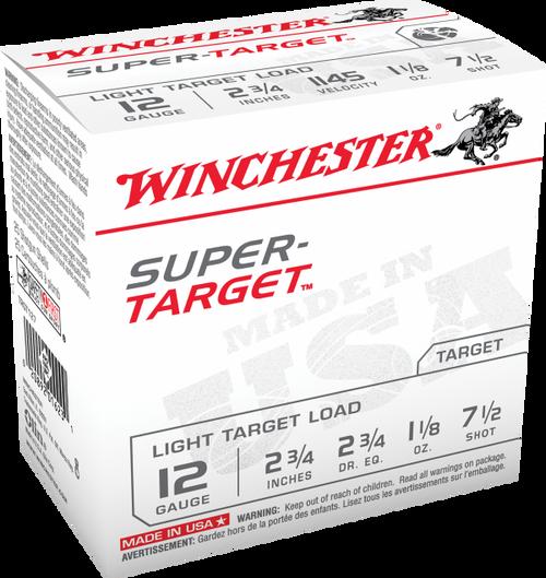 """Winchester TRGT127 Super Target 12 Gauge 2.75"""" 1-1/8 oz 7.5 Shot Ammo"""