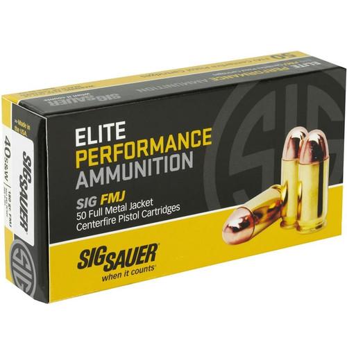 Sig Sauer E40SB2-50 Elite Performance 40 S&W 180 Grain FMJ Ammo