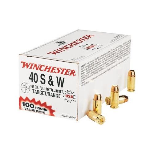 Winchester USA40SWVP USA 40 S&W 165 Grain FMJ Ammo