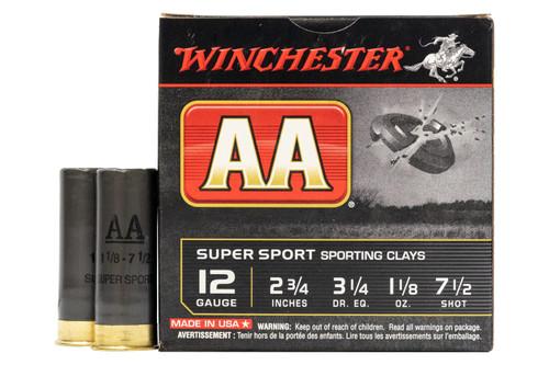 inchester AASC127 12 Gauge 2 3/4 in 1 1/8 oz 7 1/2 Shot AA Super Sport