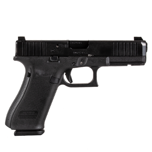 Glock PA175S702 17 Gen5 9MM Blue Label Handgun with Glock Night Sights & Front Serrations