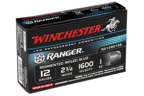 """Winchester RA12RS15S Ranger 12 Gauge 2 3/4"""" 1oz Ranger Segmenting Slug Ammo"""