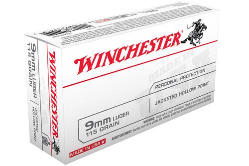 Winchester USA9JHP 9mm Luger 115gr JHP Ammo