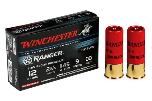 Winchester RA12005 12 Ga 2 3/4 in 9 Pellet 00 Ranger Low Recoil Buckshot Ammo