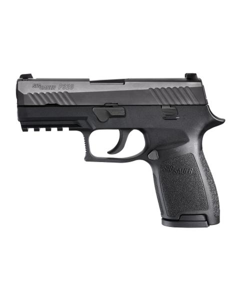 """Sig Sauer W320CA-9-BSS P320 Carry 9mm 17+1 3.9"""" Handgun in Black Nitron with Siglite Night Sights"""