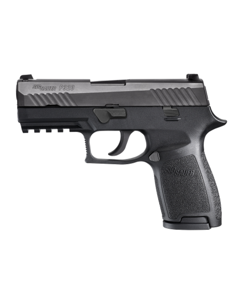 "Sig Sauer W320CA-9-BSS P320 Carry 9mm 17+1 3.9"" Handgun in Black Nitron with Siglite Night Sights"