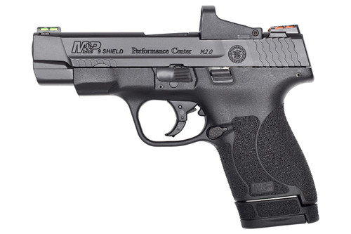 Smith & Wesson 11786 M&P9 Shield M2.0 9mm Optics Ready Performance Center Handgun with 4 MOA Red Dot