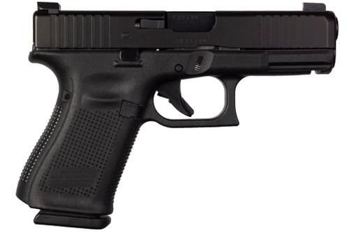 Glock PA195S302AB 19 Gen5 9mm Blue Label Handgun wtih AmeriGlo Bold Sights