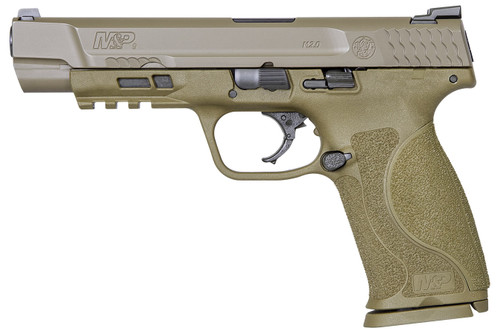 """Smith & Wesson 11989 M&P9 M2.0 9mm FDE Centerfire Pistol with 5"""" Barrel and No Thumb Safety"""