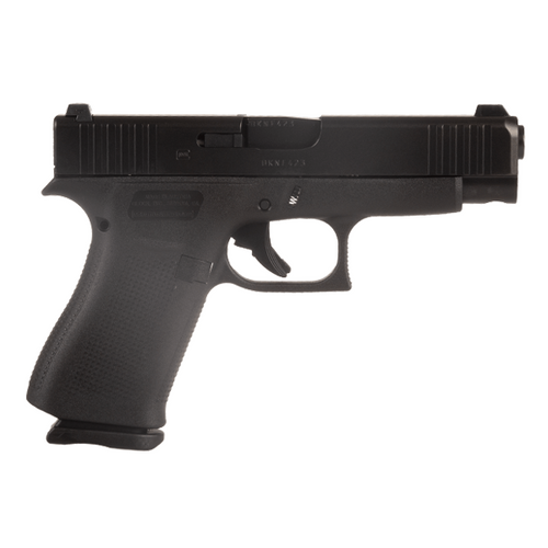 Glock PA4850702 48 All Black 9MM Blue Label Handgun with Glock Night Sights