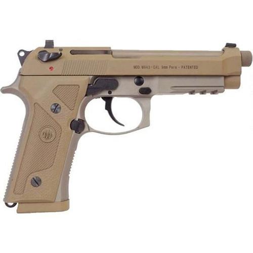 "Beretta J92M9A3 M9A3 9mm Luger Semi-Auto Handgun with 5"" Threaded Barrel and Night Sights"