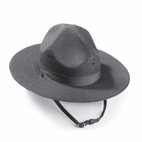 Alboum Campaign Straw Triple Brim Hat
