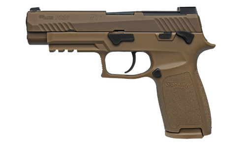 Sig Sauer W320F-9-M17-MS P320 M17 9mm Full-Size Handgun in Coyote with Manual Safety