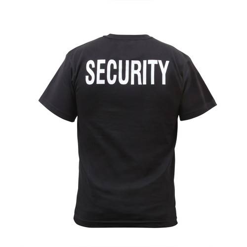 Rothco 6616 2-Sided Security Black T-Shirt