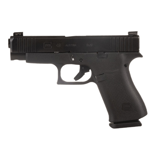 Glock PA4850302AB 48 All Black 10-Round 9MM Handgun with AmeriGlo Bold Sights