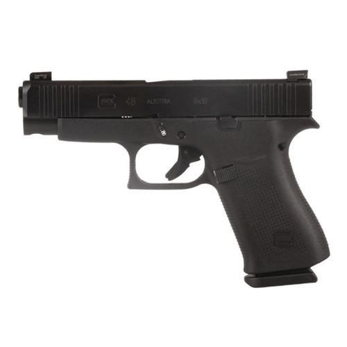 Glock PA4850302AB 48 All Black 10-Round 9MM Handgun with AmeriGlo Bold Sights