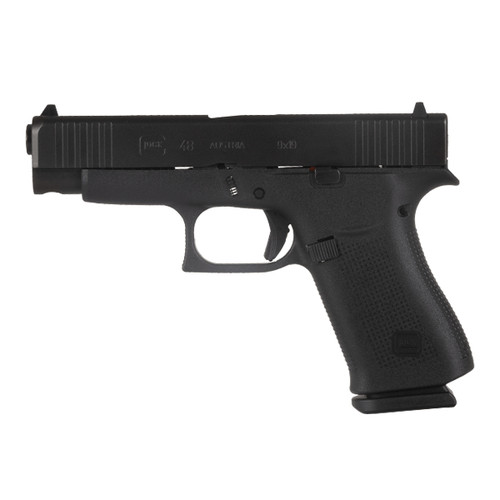 Glock PA4850202 48 All Black 10-Round 9MM Handgun with Fixed Sights