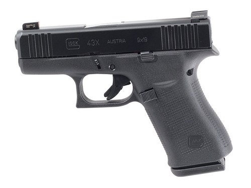 Glock PX4350302AB 43X 9mm Blue Label Handgun with AmeriGlo Bold Sights
