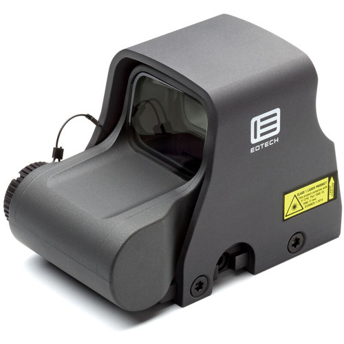 EOTech XPS2-0GREY Holographic Weapon Sight 65 MOA Circle and 1 MOA Dot Non Night Vision Compatible CR123 Battery Weaver/Picatinny Grey