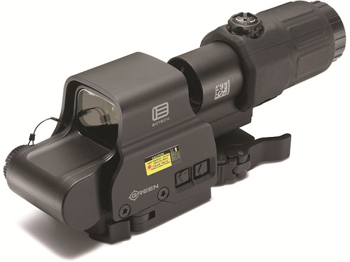 EOTech HHS-GRN Holographic Hybrid Sight, Green EXPS2-0GRN with a G33 Magnifier