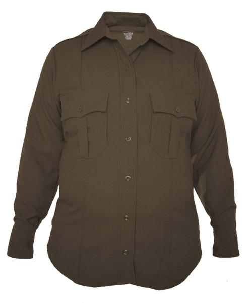 Elbeco Z9315LCN TexTrop2 Women's Zippered Polyester Long Sleeve Shirt