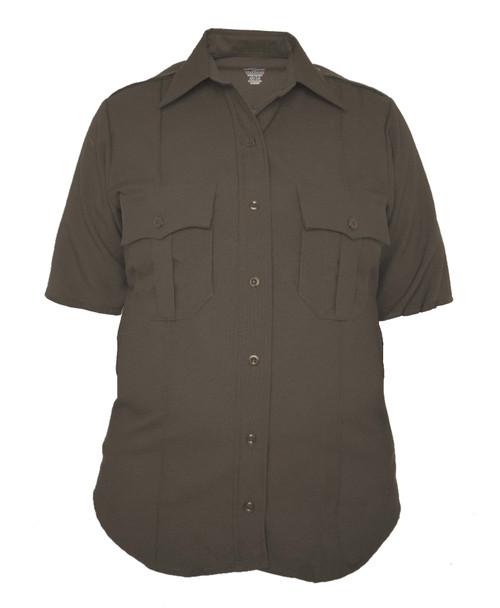 Elbeco Z9815LCN TexTrop2 Women's Zippered Polyester Short Sleeve Shirt