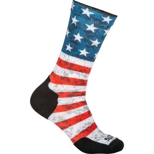 5.11 Tactical 10041AB Sock & Awe Crew American Flag