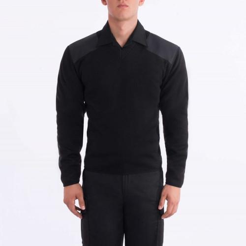 Blauer 225 Fleece-Lined V-Neck Sweater