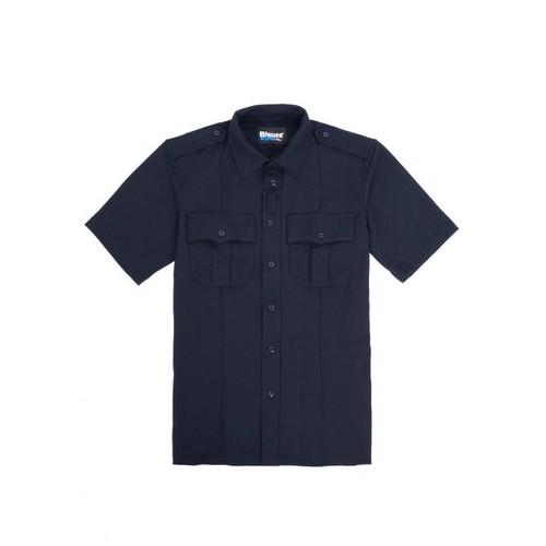 Blauer 8135 Zippered Bi-Component Knit Shirt- Dark Navy