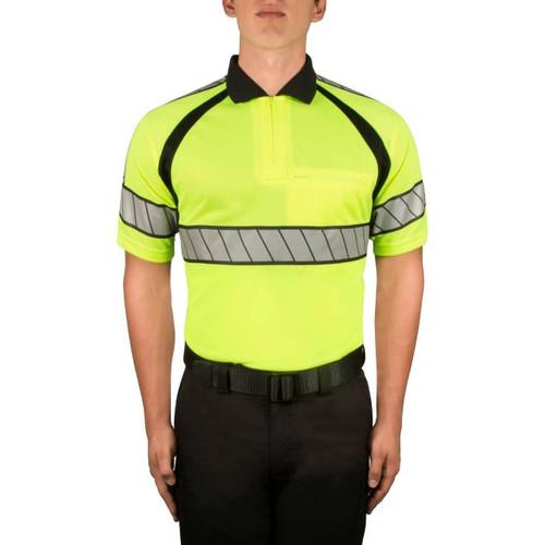 Blauer 8137 Hi-Vis Polo Shirt- HI-Vis Yellow