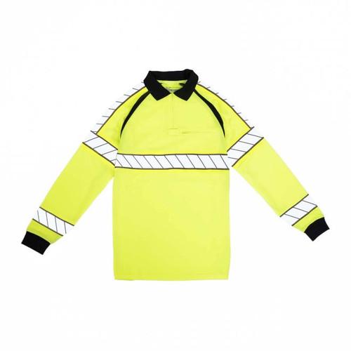 Blauer 8147 Hi-Vis Polo Long Sleeve Shirt