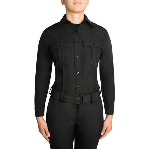 Blauer 8600W-Z Women's Zippered Polyester Long Sleeve Shirt