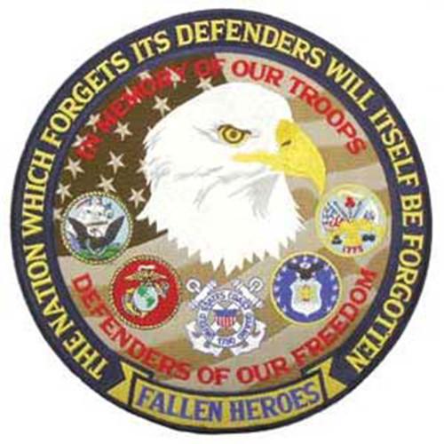 """Emblem """"Defender of Freedom"""" Patch - 12"""""""