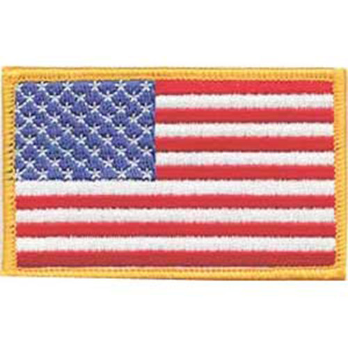 Emblem Flag Patch w/Gold Border