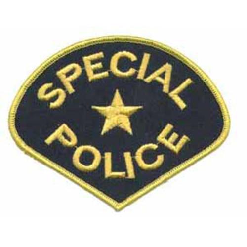 Emblem Special Police Patch - Navy Gold Pie Shape