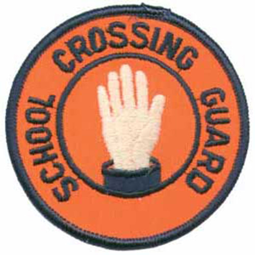 Gemsco #0020061 Crossing Guard Patch-Round-Orange