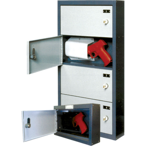 American Wall Mount Pistol Locker - 4 Door