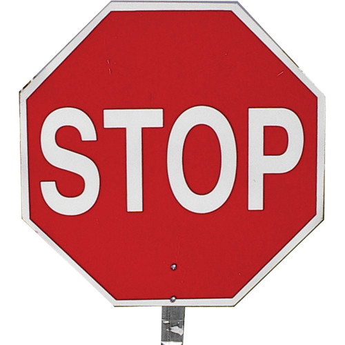 """Pro-Line Stop/Stop 18"""" Paddle Sign w/ Handles"""