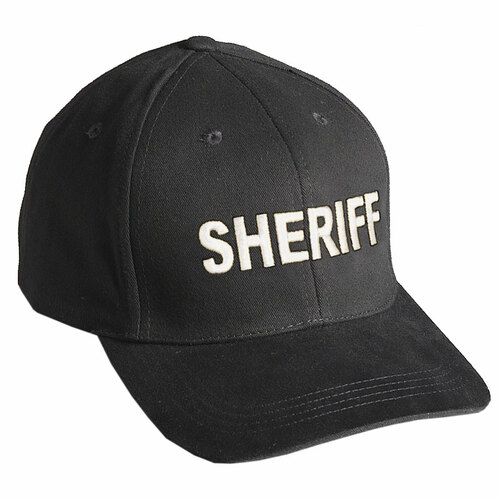 "Baseball Cap ""SHERIFF"" - Black w/White Embroidery"