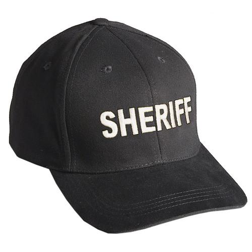 "Baseball Cap ""SHERIFF"" - Black w/White Embroidery"