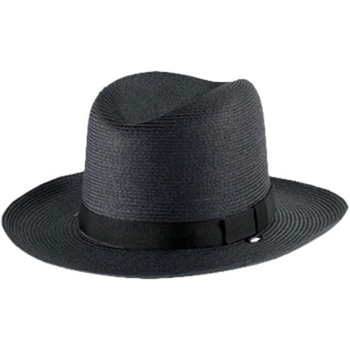 Alboum Sheriff Straw Double Brim Hat