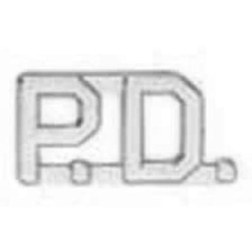 "Emblem 4315N Silver ""PD"" 1/2"" Collar Insignia"