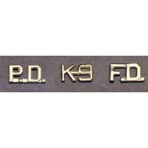 Premier P2513  K-9  1/2 Silver Collar Pins (Pairs)