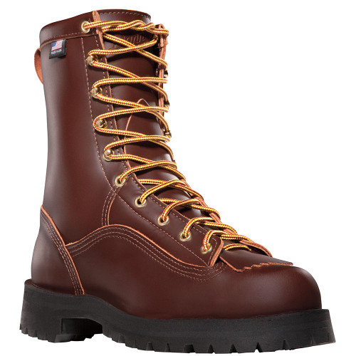 Danner Rain Forest™ Brown Plain Toe Work Boots