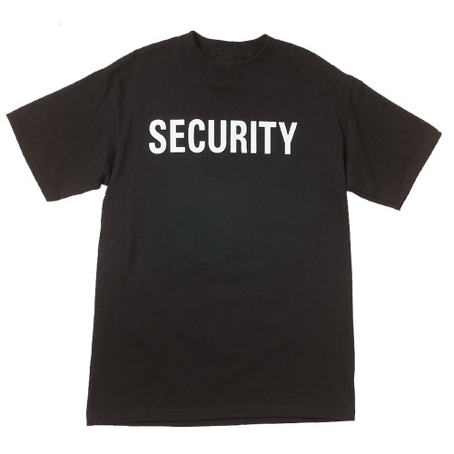 """Bodek and Rhodes Black """"Security"""" T-Shirt"""