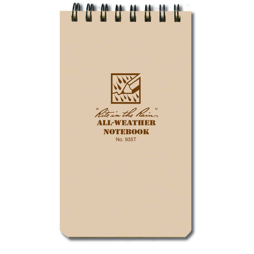 Rite In The Rain 3x5 Notebook - Tan