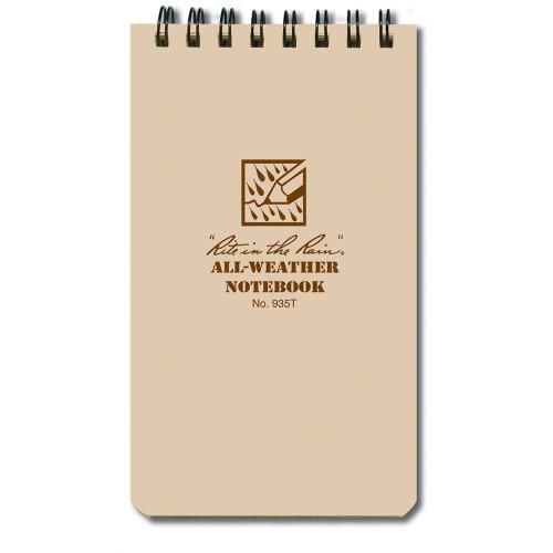 Rite In The Rain 3x5 Notebook - Tan