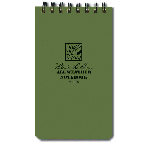 Rite In The Rain 3x5 Notebook - Green