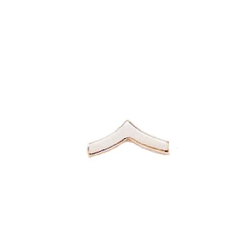 Emblem Collar Insignia- Small PFC Chevrons